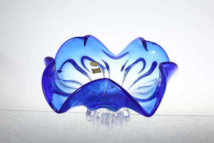 Егерманн синяя Ваза для фруктов 29 см