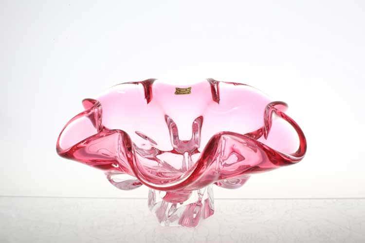Егерманн розовая Ваза для фруктов 25 см