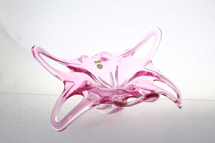 Егерманн розовая Ваза для фруктов 40 см