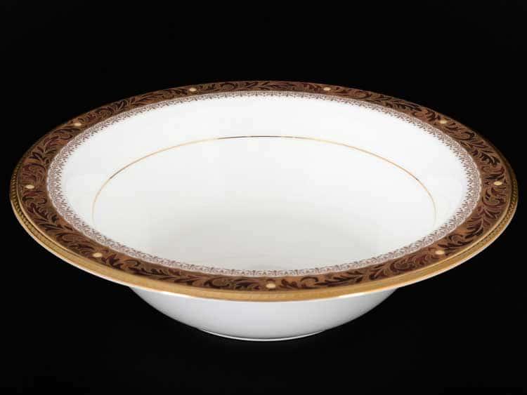 Ксавье золото Салатник круглый Noritake 24,5 см