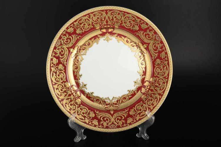 Natalia bordeaux gold Набор тарелок 23 см (6 шт) Falkenporzellan