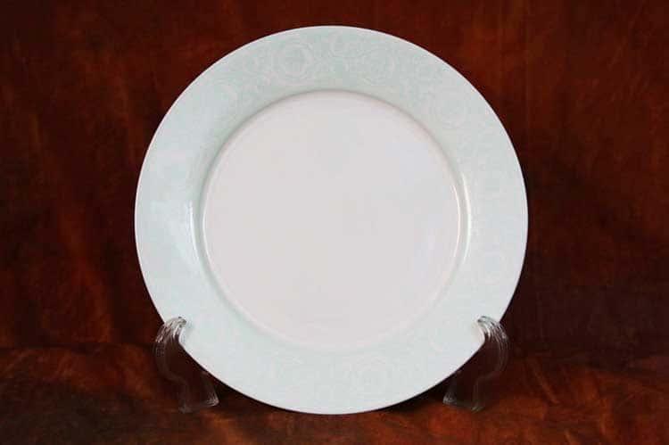 Дионис-Аквамарин Костяной фарфор АККУ тарелка закусочная 20,5 см