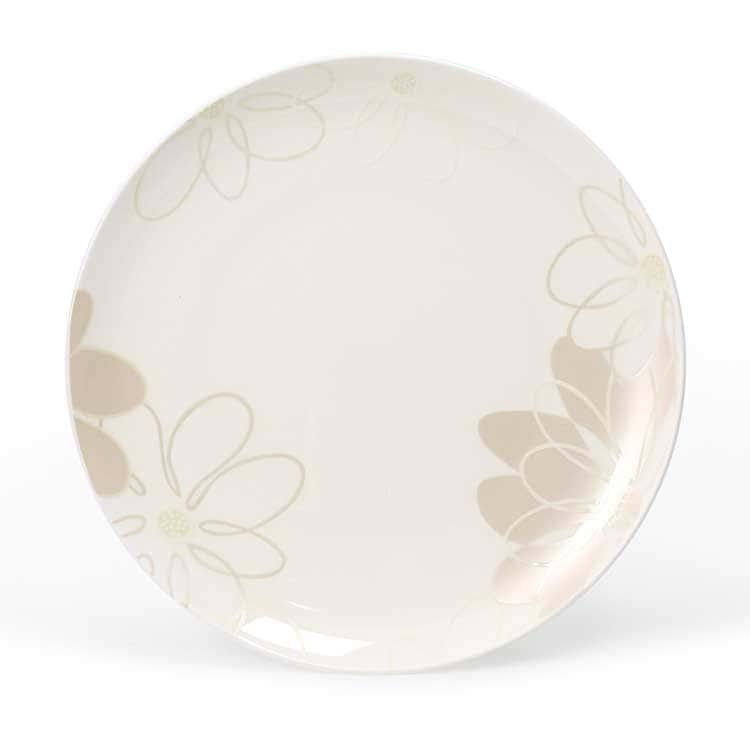 Магнолия Костяной фарфор АККУ тарелка круглая 26,5 см
