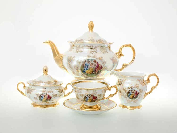 Мадонна Перламутр Чайный сервиз на 6 персон 17 предметов Sterne porcelan