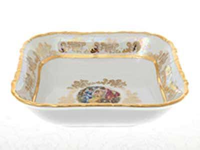 Мадонна Перламутр Салатник квадратный 16 см Sterne porcelan