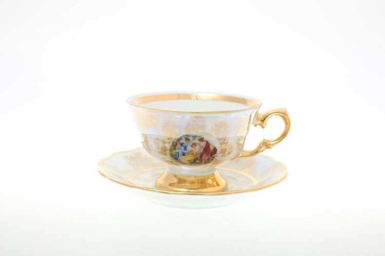 Мадонна Перламутр Набор чайных пар 220 мл Sterne porcelan (6 пар)
