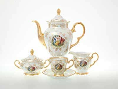 Мадонна Перламутр Кофейный сервиз на 6 персон 17 предметов Sterne porcelan