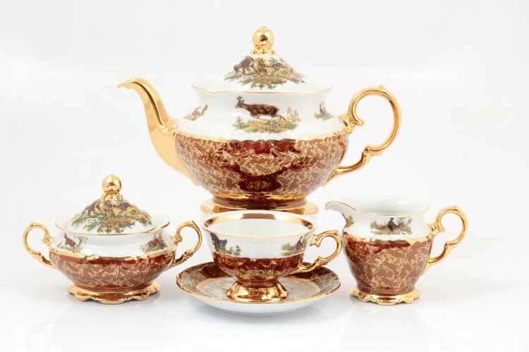 Охота Красная Чайный сервиз 17 предметов Sterne porcelán