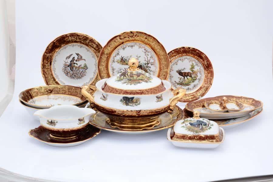 Охота Красная Столовый сервиз 27 предметов Sterne porcelán