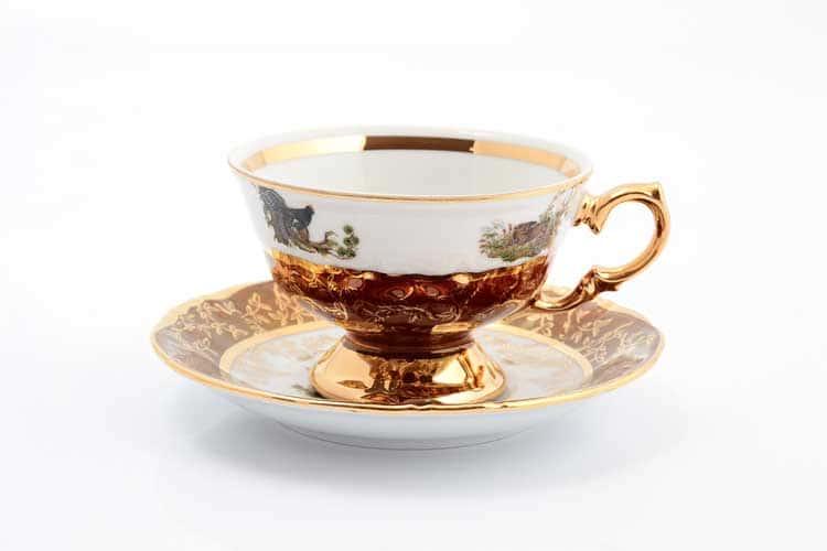 Охота Красная Набор чайных пар 220 мл Sterne porcelan (6 пар)