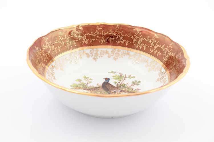 Охота Красная Набор салатников 19 см Sterne porcelan