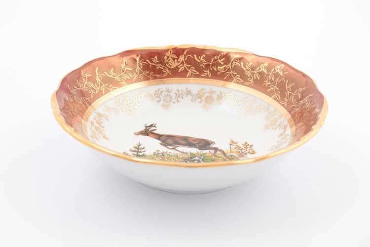 Охота Красная Набор салатников 16 см Sterne porcelan