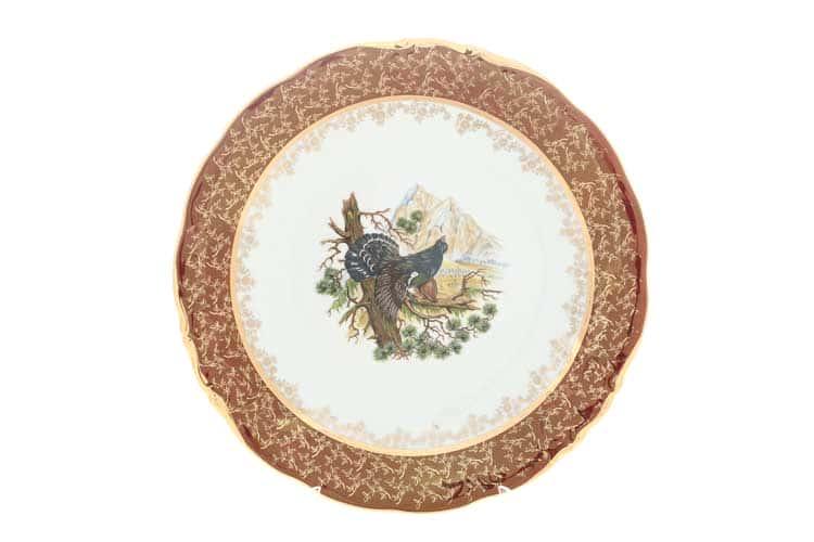Охота Красная Блюдо круглое 30 см Sterne porcelan