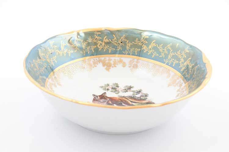 Охота Зеленая Набор салатников 19 см Sterne porcelan