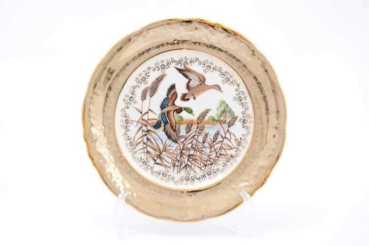 Охота Бежевая Набор тарелок 24 см Sterne porcelán