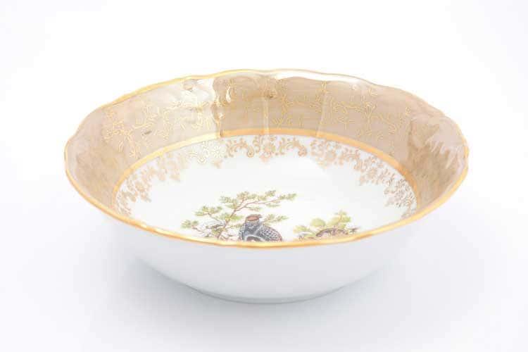 Охота Бежевая Набор салатников 19 см Sterne porcelan