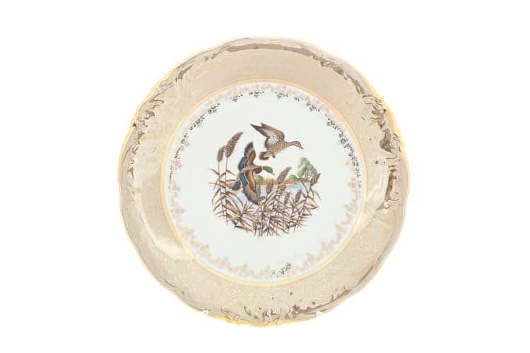Охота Бежевая Блюдо круглое 30 см Sterne porcelan