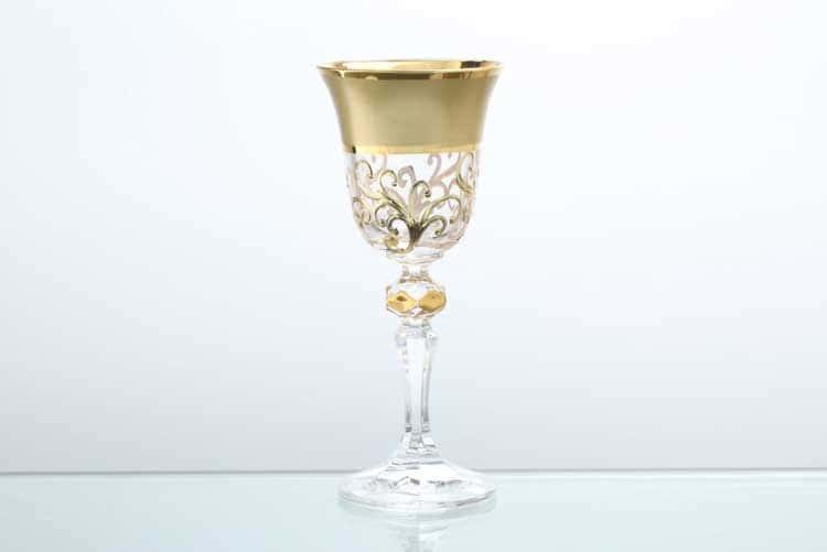 Анжела Матовая полоса Набор рюмок для водки Bohemia Gold 60 мл (6 шт)