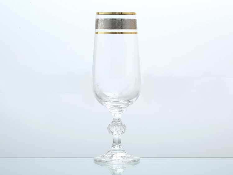 Клаудия Панто Платина Набор фужеров для шампанского Bohemia Gold 180 мл (6 шт)
