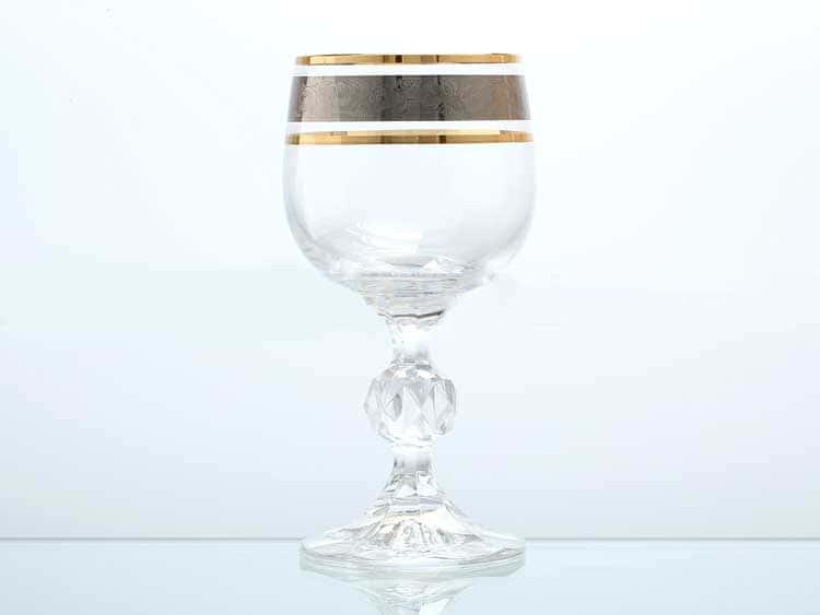 Клаудия Панто Платина Набор бокалов для вина Bohemia Gold 150 мл (6 шт)
