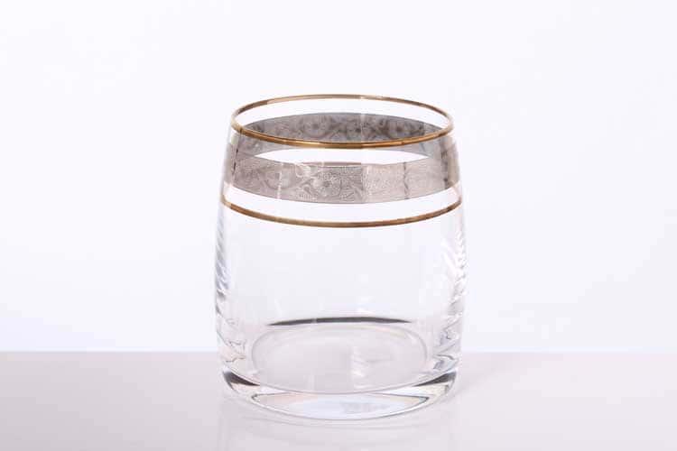 Идеал Панто Платина Набор стаканов для виски Bohemia Gold 290 мл (6 шт)