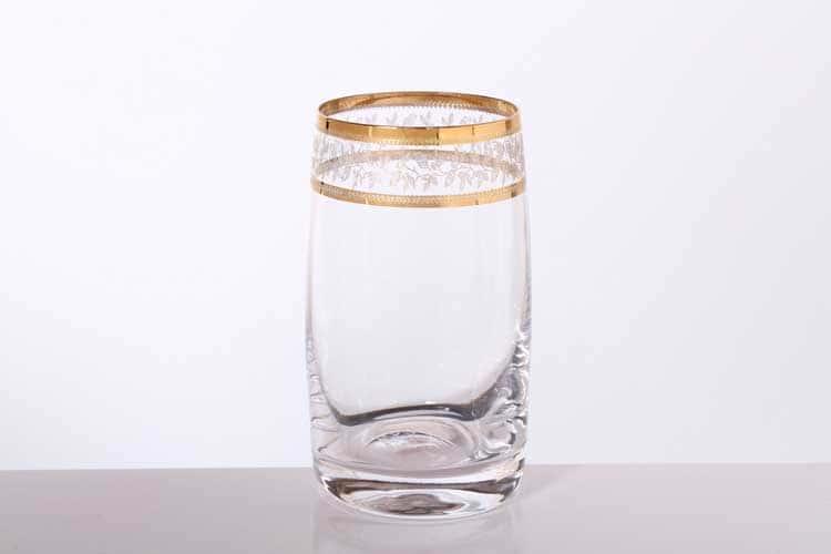 Идеал Золотой лист Набор стаканов для воды Bohemia Gold 230 мл