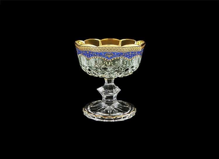 Opera Floras Empire Golden Blue Decor Конфетница на ножке 12 см Astra Gold