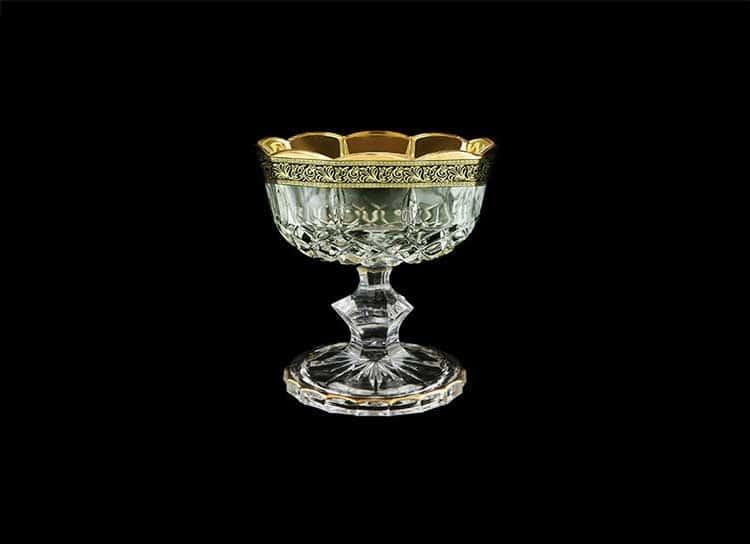 Opera Lilit&Leo Golden Black Decor Конфетница на ножке 12 см Astra Gold
