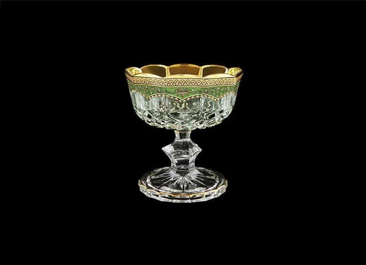 Opera Floras Empire Golden Green Decor Конфетница на ножке 12 см Astra Gold
