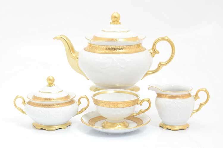 Матовая лента Чайный сервиз на 6 персон 17 предметов Sterne porcelan