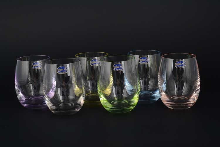 Арлекино Набор стаканов для воды Bohemia Crystal 220 мл
