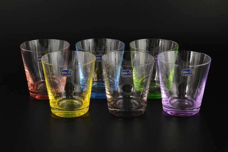 Арлекино Набор стаканов для виски  Bohemia Crystal 330 мл