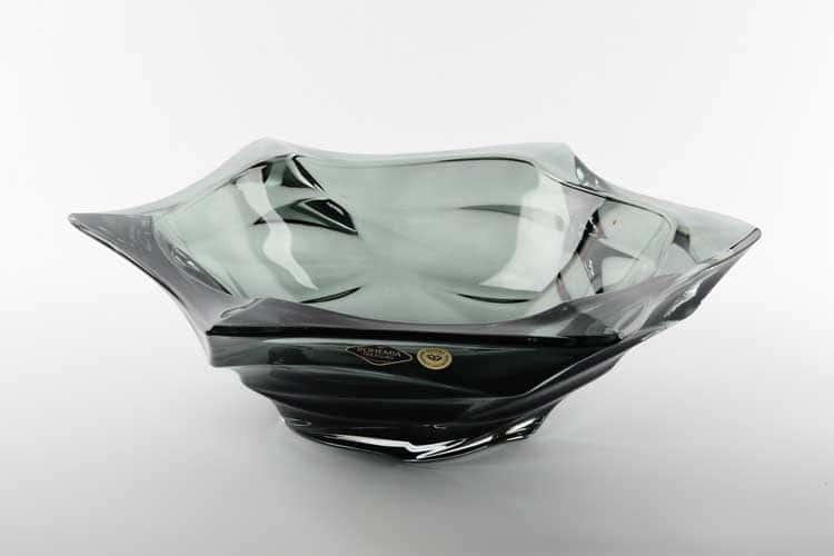 Фламенко серая Фруктовница Bohemia Treasury 33 см