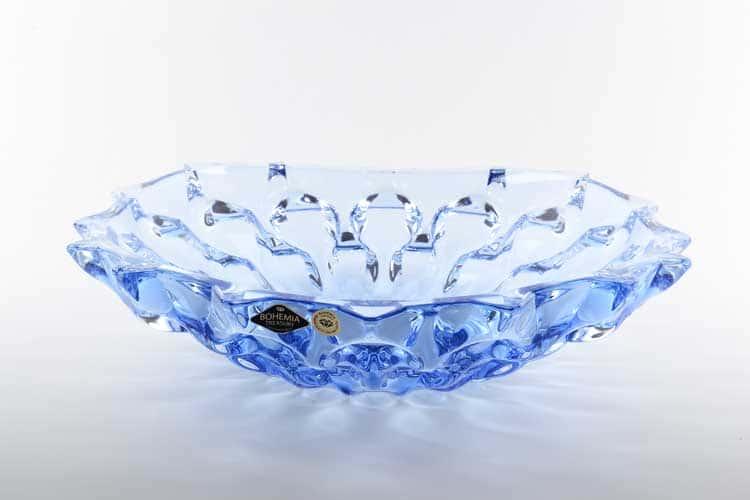Самба синяя Фруктовница Bohemia Treasury 35 см