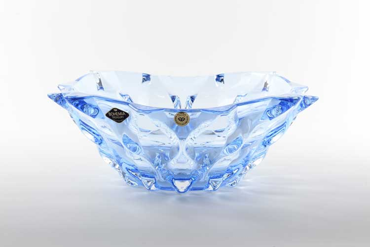 Самба синяя Фруктовница Bohemia Treasury 30 см