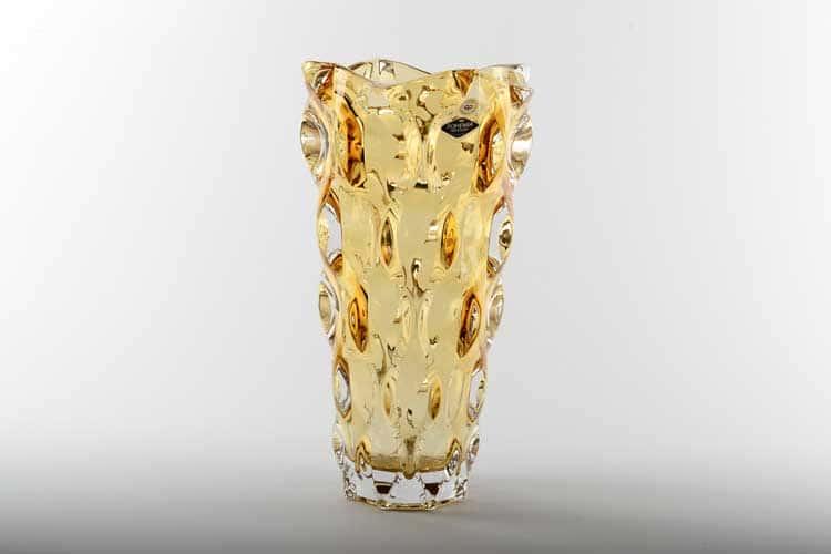 SAMBA RHABSODY желтая Ваза для цветов Bohemia Treasury 30 см