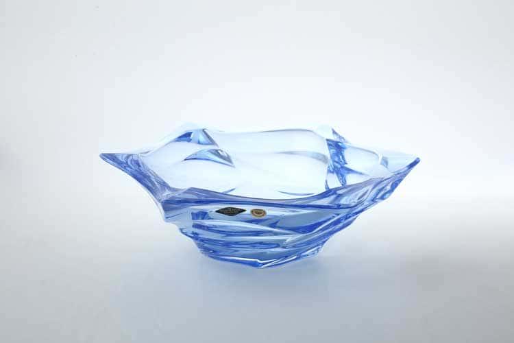 Фламенко синяя Фруктовница BOHEMIA TREASURY 33 см