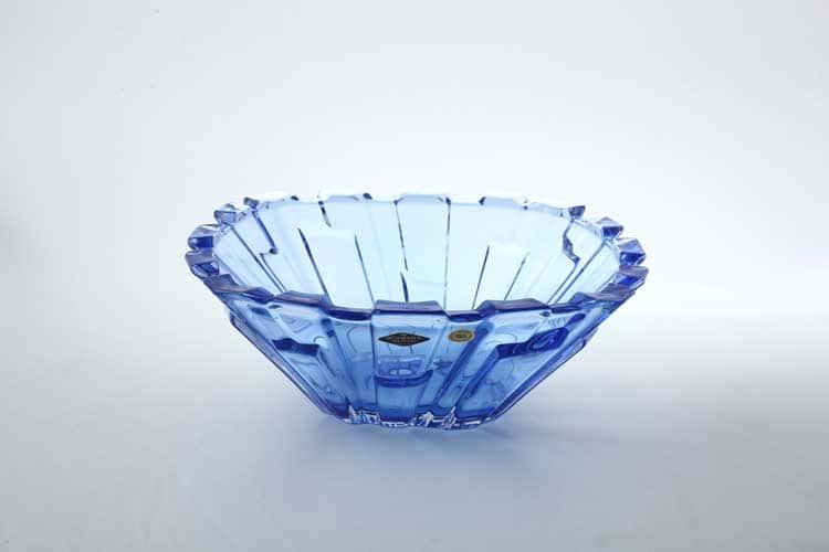 Bolero Large синяя Фруктовница BOHEMIA TREASURY 31 см