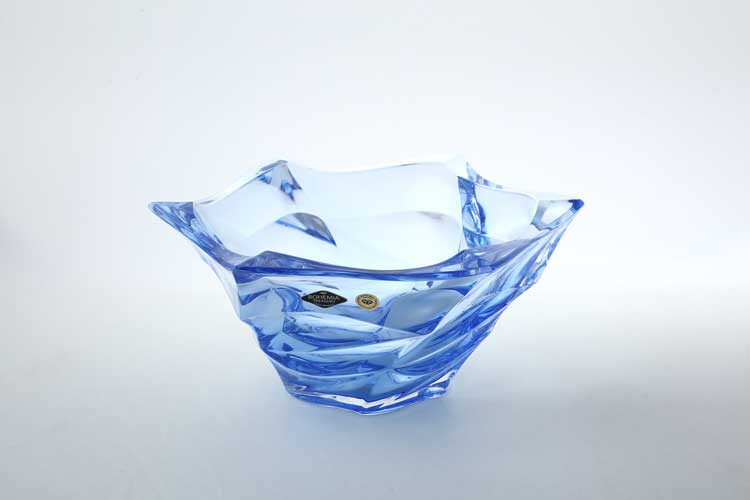 Flamenco синяя Фруктовница BOHEMIA TREASURY 29,5 см