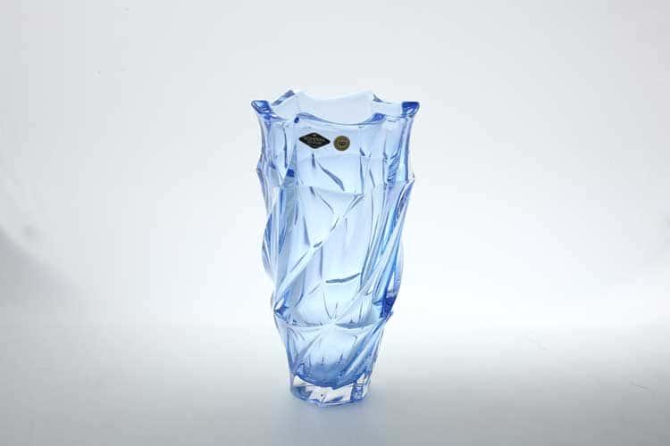 Фламенко синяя Ваза для цветов Bohemia Treasury 30 см