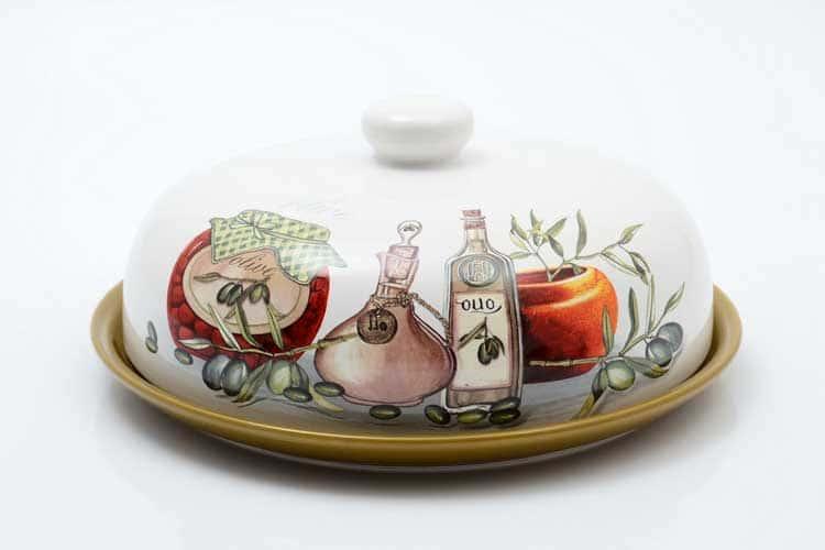 Olive Блюдо для блинов с крышкой 23*23*10 см Royal Classics