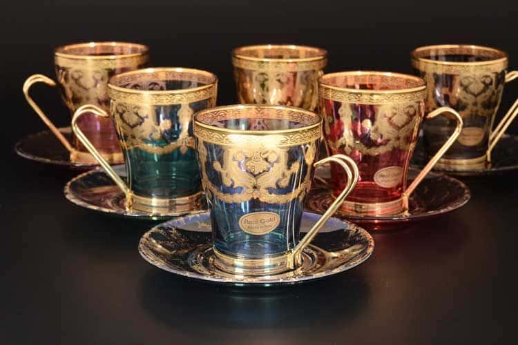 Veneziano Color Набор чайных пар Art Decor