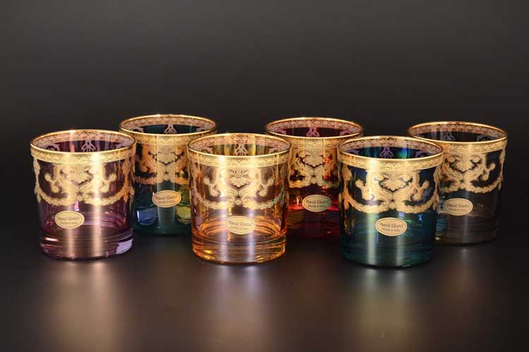Veneziano Color Набор стаканов для виски Art Decor