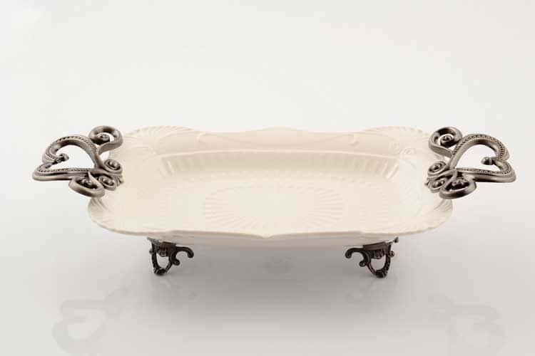 Блюдо Прямоугольное 39 см Royal Classics на ножках