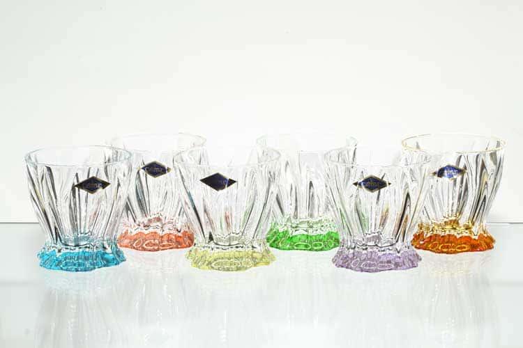 PLANTICA Набор ассорти стаканов для виски 250 мл Aurum Crystal