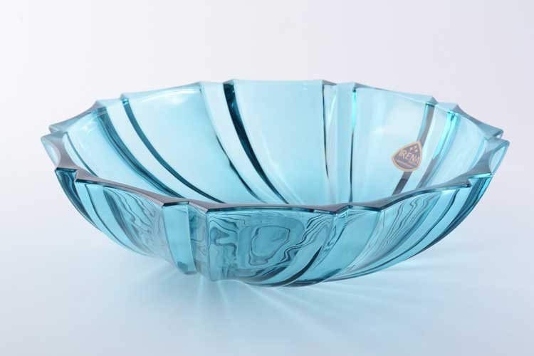 Инфинити голубая Фруктовница 29 см IRENA HOLDING