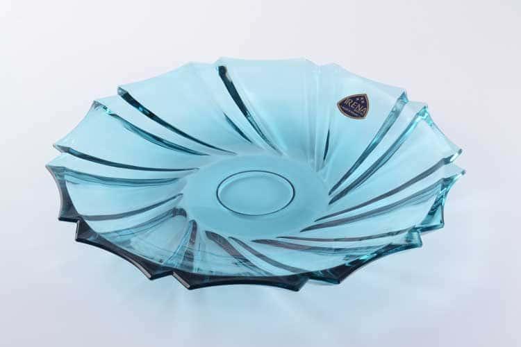 Инфинити голубая Фруктовница неглубокая 29 см IRENA HOLDING