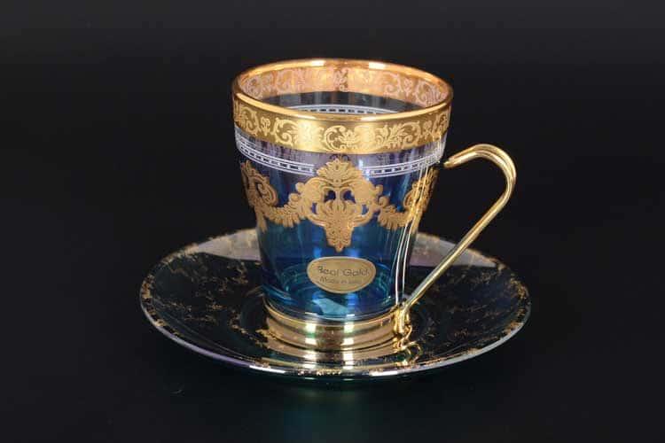 NEW Veneziano color Набор чайных пар Art Decor 12 предметов