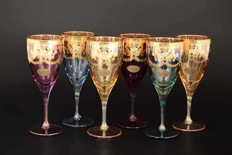 Veneziano Color Набор бокалов для вина Art Decor