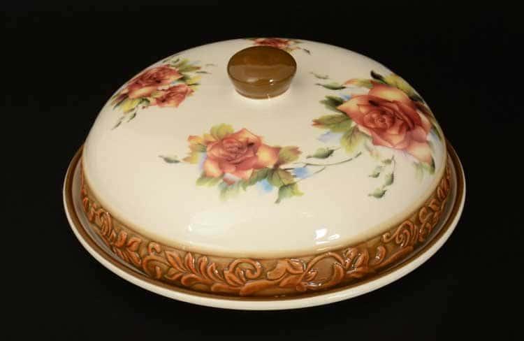 Розы slon Блюдо для блинов с крышкой 23*23*10 см Royal Classics